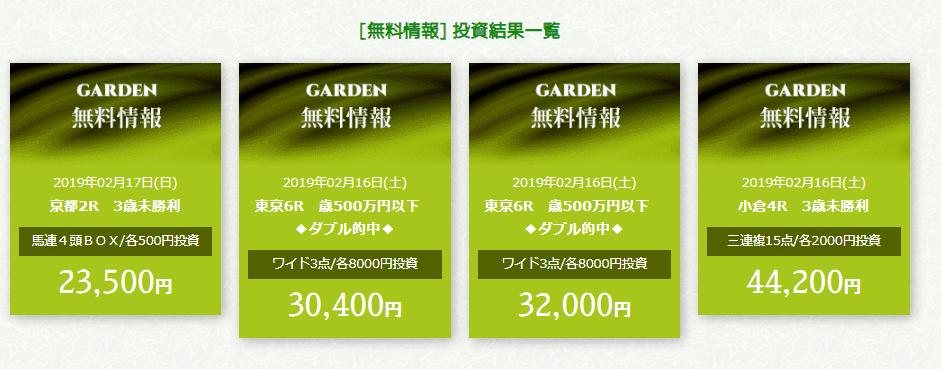 ガーデン 無料予想