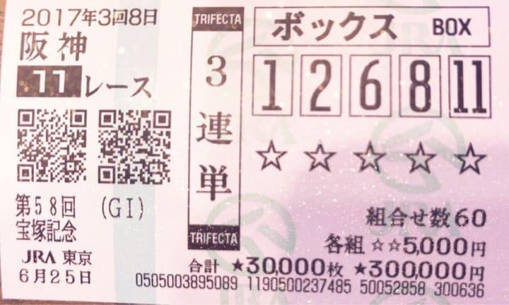 宝塚記念 馬券