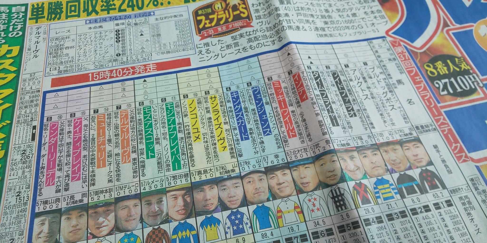 フェブラリーS 競馬新聞