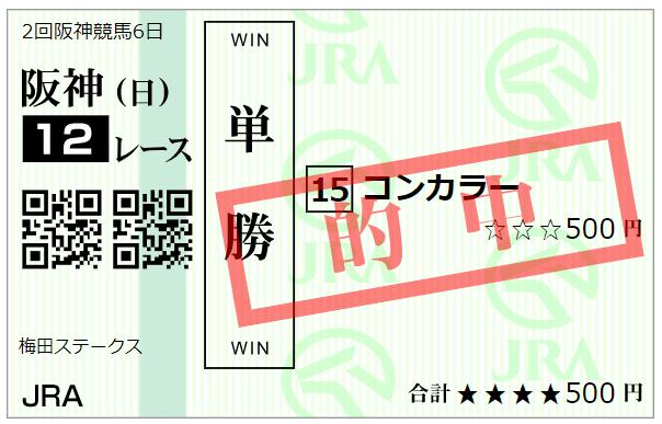 梅田S 馬券