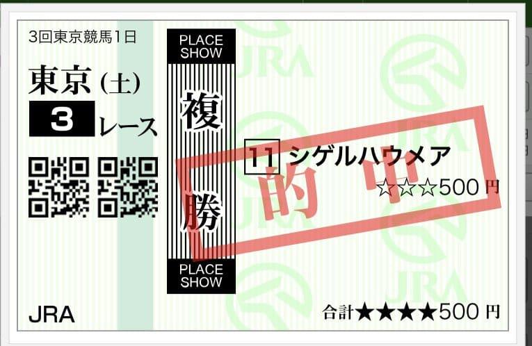 東京競馬 複勝