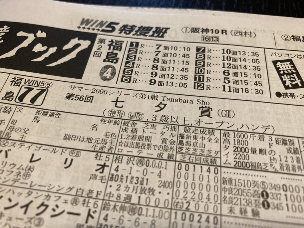 競馬ブック 七夕賞