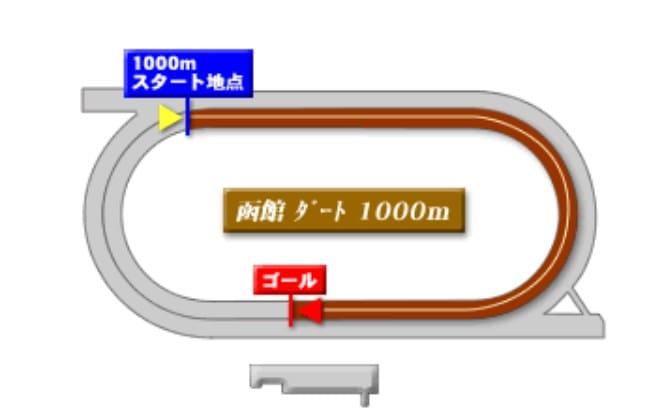 函館競馬場ダート1000mの予想ポイント