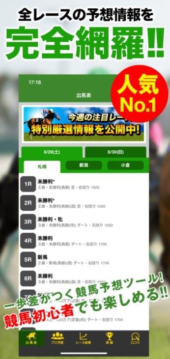 JRA競馬予想情報アプリは当たるのか?予想を検証