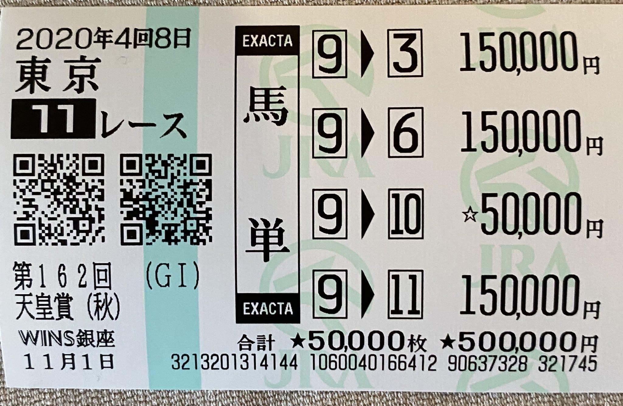 馬単 東京競馬
