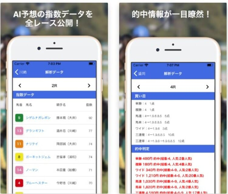 AI 競馬予想アプリ4