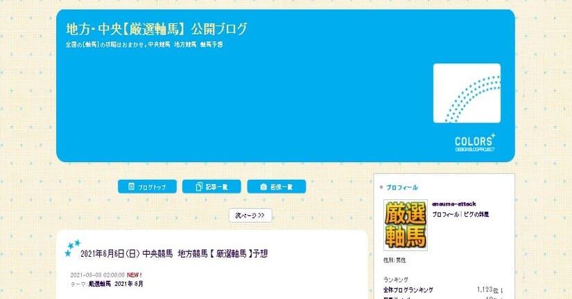 競馬予想ブログ 地方・中央【厳選軸馬】 公開ブログ