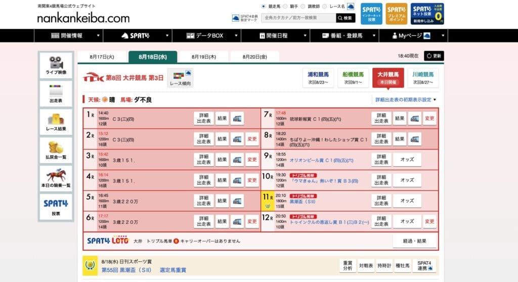 南関東4競馬場公式ウェブサイト
