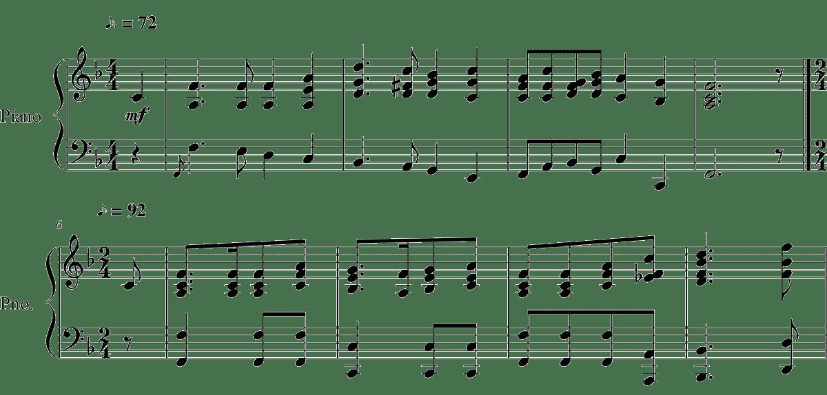競馬 ファンファーレ 楽譜